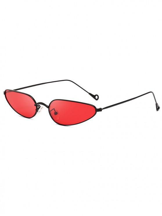 outfits Retro Stylish Narrow Frame Sunglasses - RED