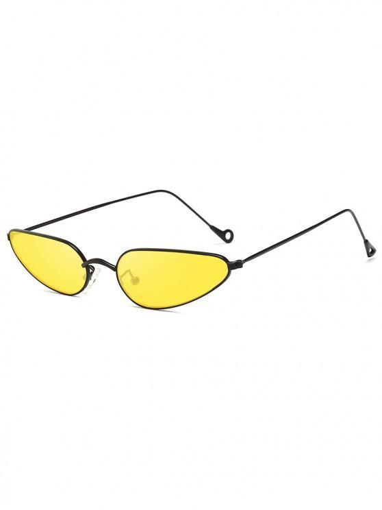 latest Retro Stylish Narrow Frame Sunglasses - SUN YELLOW