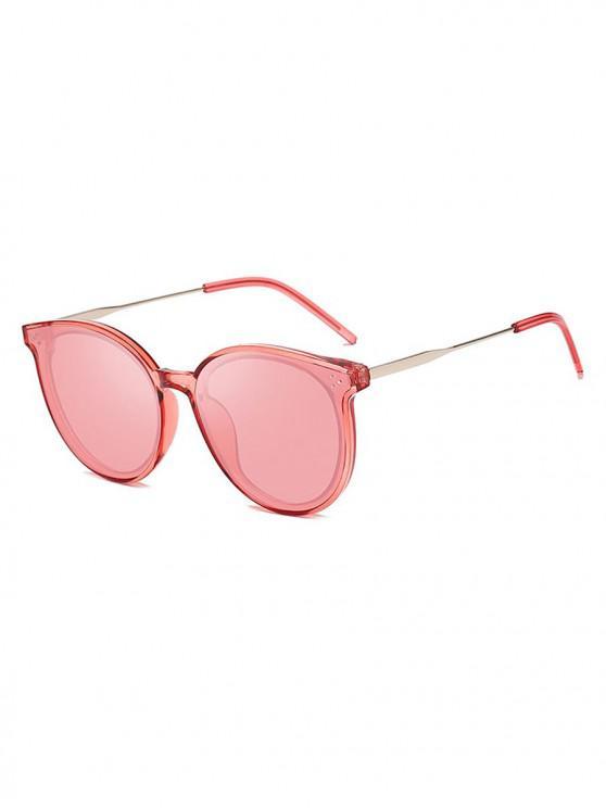 chic Unisex Simple Oversize Sunglasses - FLAMINGO PINK