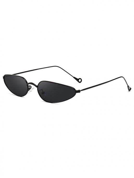 affordable Retro Stylish Narrow Frame Sunglasses - BLACK