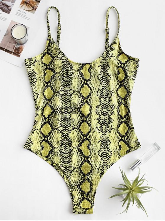 shop Snakeskin Cami Bodysuit - MULTI-B M