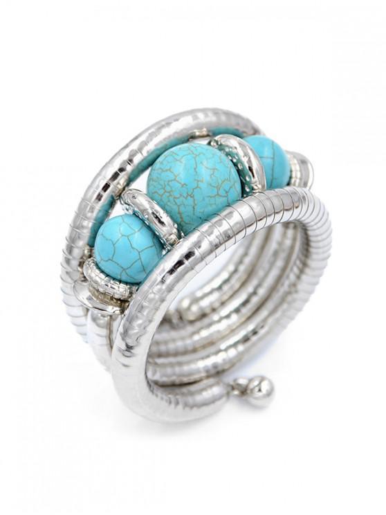 shop Turquoise Metal Wrap Bracelet - MULTI-A
