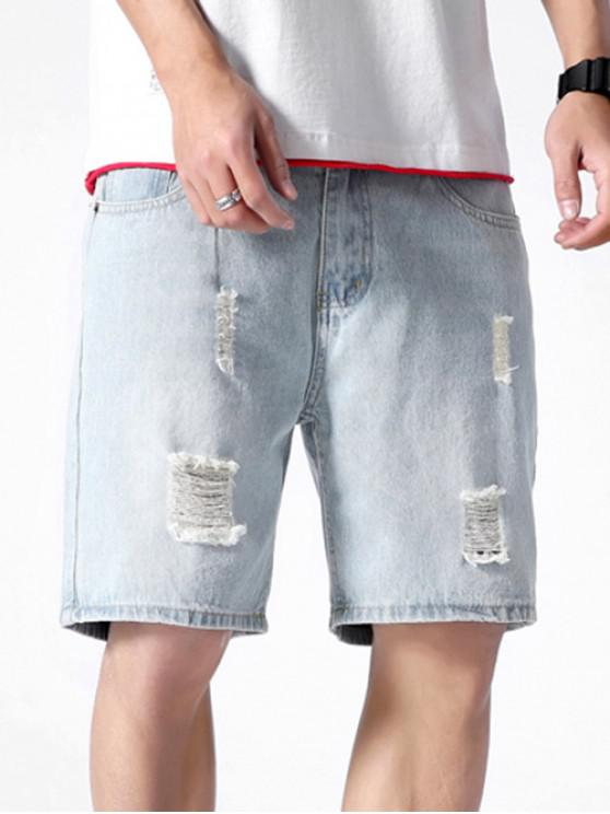 323c00971 Destroy Wash Solid Color Jean Shorts
