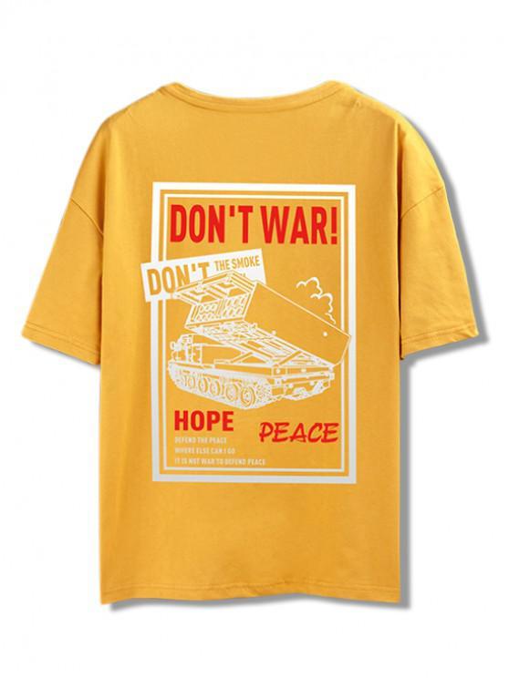 Camiseta del gráfico de la guerra de Don  't - Vara de Oro M
