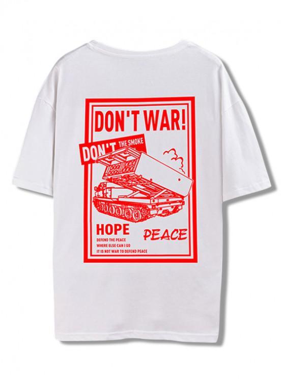 Camiseta del gráfico de la guerra de Don  't - Blanco L
