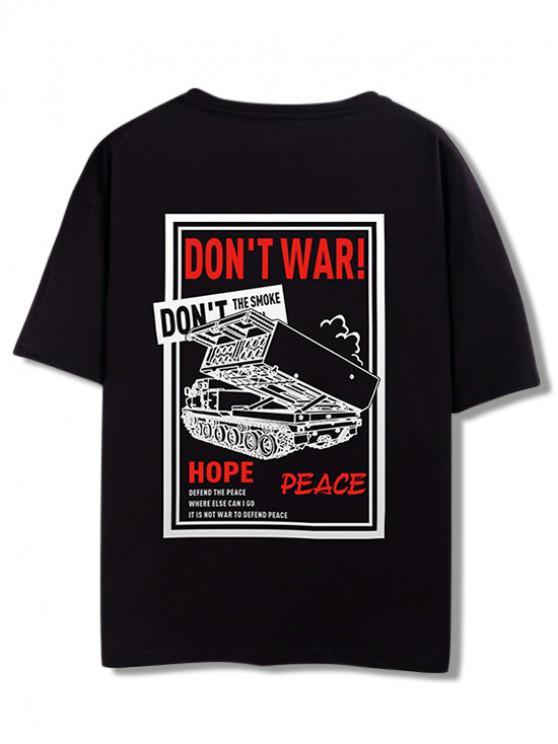 Camiseta del gráfico de la guerra de Don  't - Negro XL