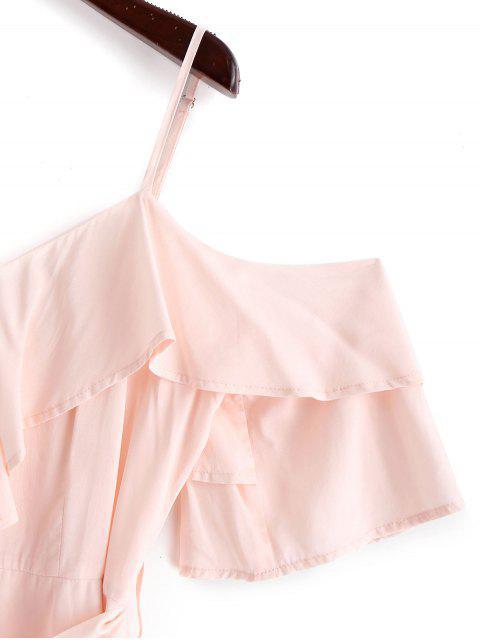 ZAFUL Mono Femenino de Tirantes Finos con Pierna Ancha y Cinturón - Rosa Sakura  S Mobile
