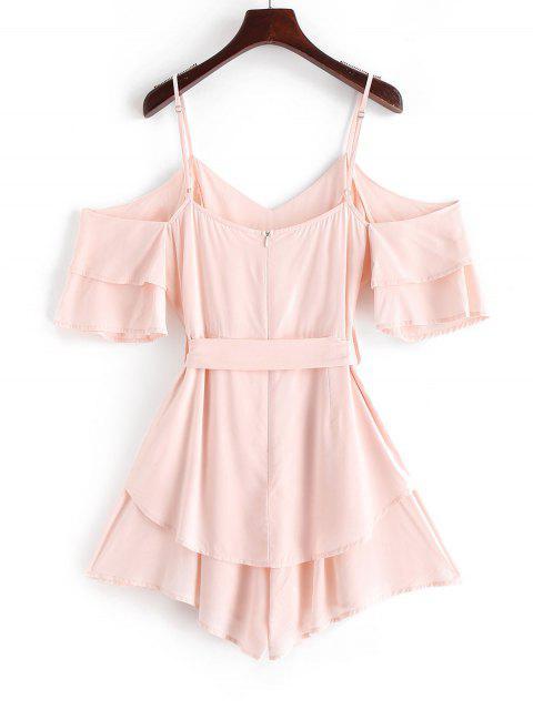 ZAFUL Overlay-Camisole mit Weitem Bein und Gürtel - Sakura Rosa XL Mobile