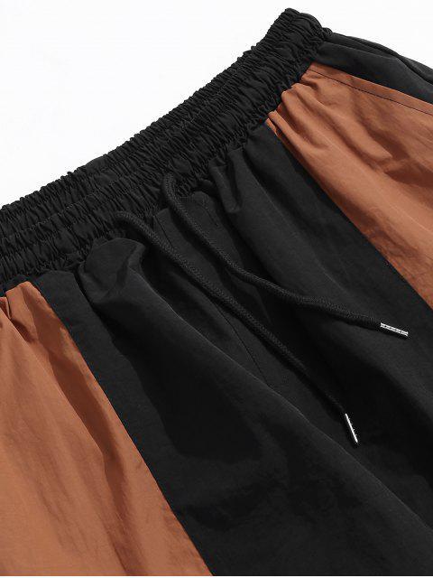 Pantalon de jogging décontracté à blocs de couleurs - Noir XL Mobile