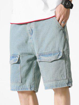 zaful Multi-pocket Zipper Fly Jean Shorts