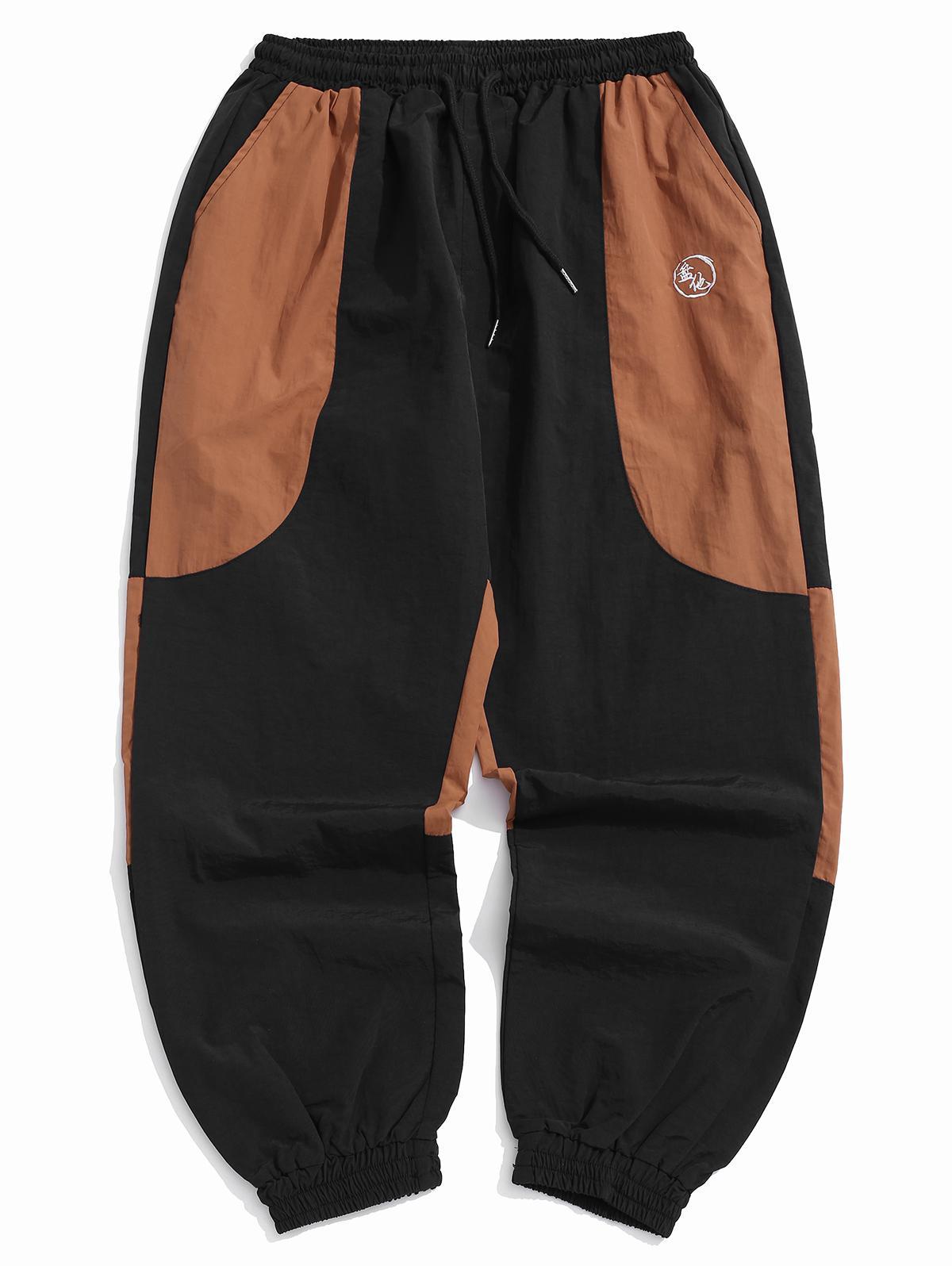 Blocco Di Colore Splicing Casual Pantaloni Jogger
