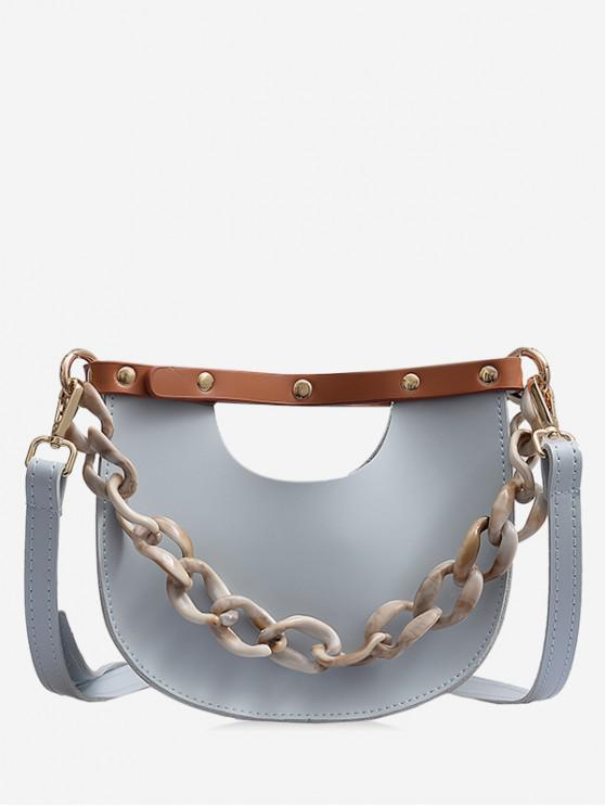 hot Link Chain Design Simple Casual Shoulder Bag - GRAY