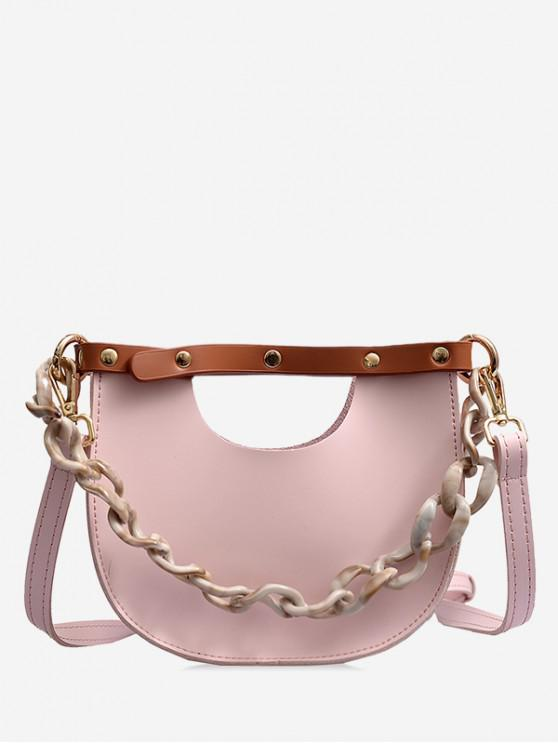 outfit Link Chain Design Simple Casual Shoulder Bag - PINK