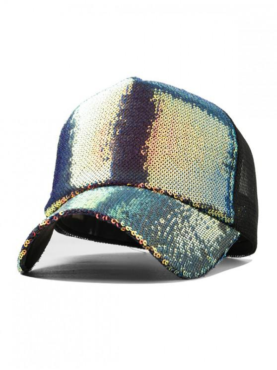 lady Holographic Sequined Baseball Cap - MULTI-A