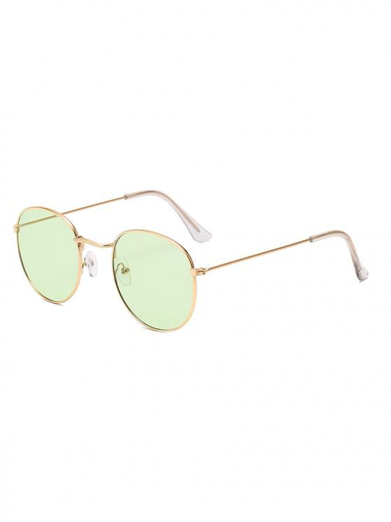 buy Vintage Round Anti UV Sunglasses - MINT GREEN