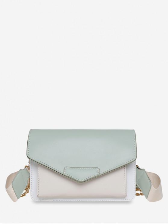 women Wide Strap Summer Square Shoulder Bag - DARK SEA GREEN