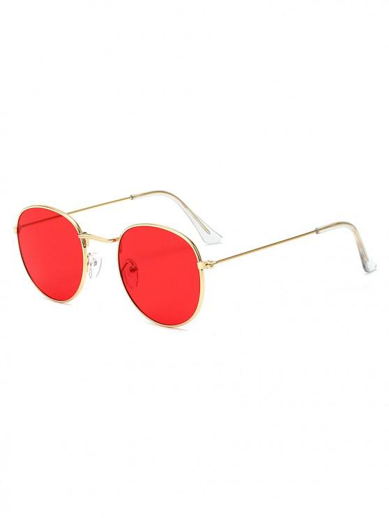 shops Vintage Round Anti UV Sunglasses - RED
