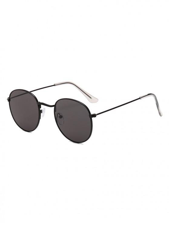 women's Vintage Round Anti UV Sunglasses - BLACK EEL