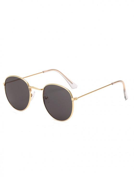 new Vintage Round Anti UV Sunglasses - BLACK