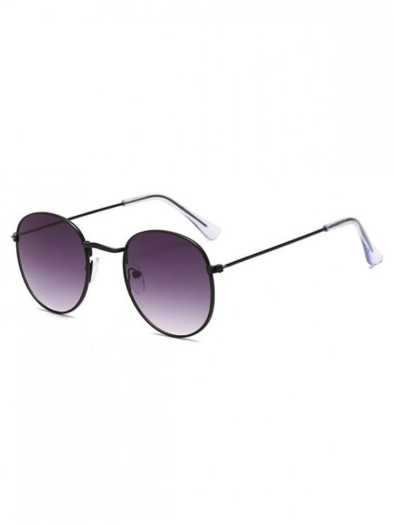 hot Retro Metal Round Ombre Sunglasses - CLOUDY GRAY