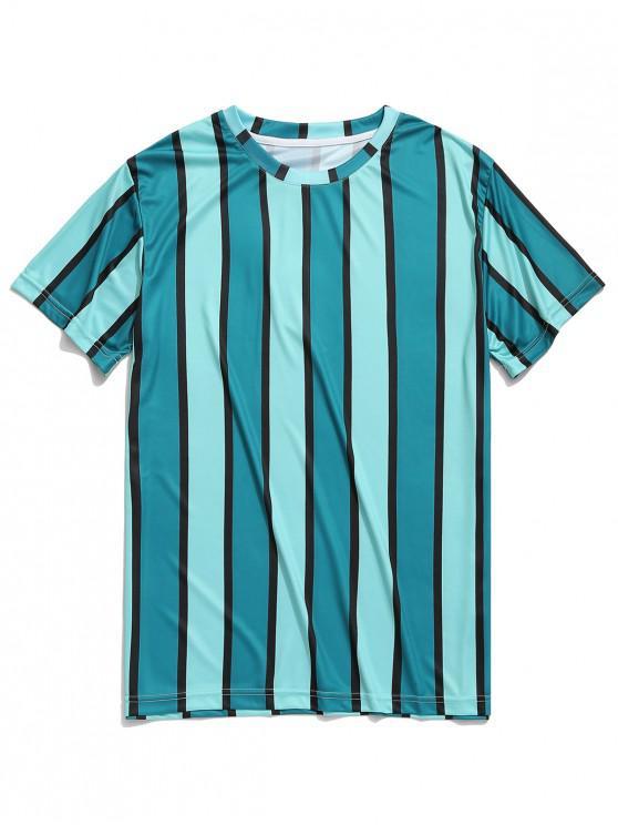 7be4221a 12% OFF] 2019 Camiseta Con Estampado De Rayas Verticales En ...