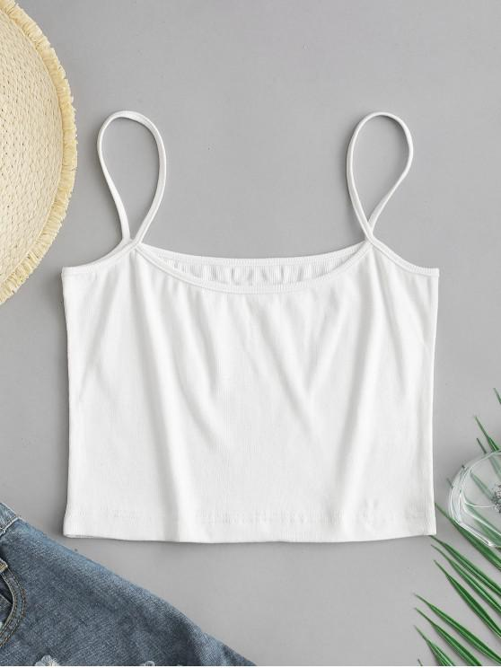 new ZAFUL Ribbed Cami Top - WHITE M