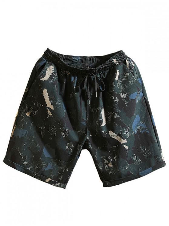 Pantaloncini casuali con coulisse stampa modello - Multi Colori-A M