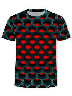 Burning Honeycomb Briquette Graphic Tee - Red Xl