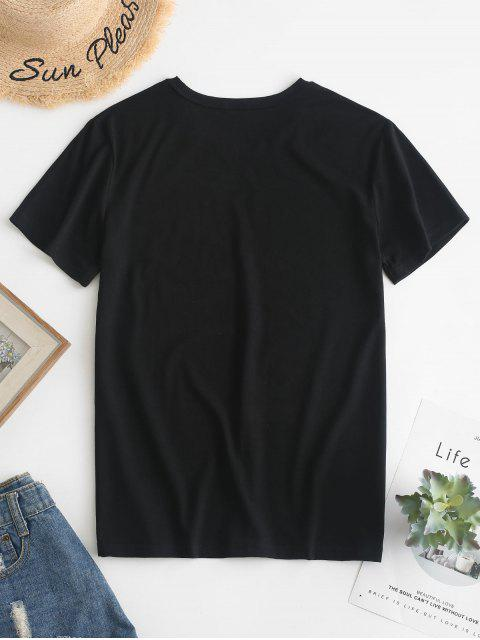 best Hand Graphic Jersey Tee - BLACK L Mobile