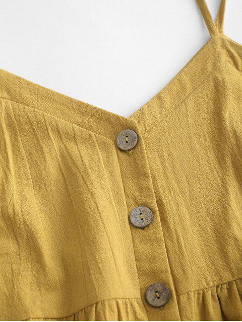 ZAFUL Cami Top com Babado - Amarelo S Mobile