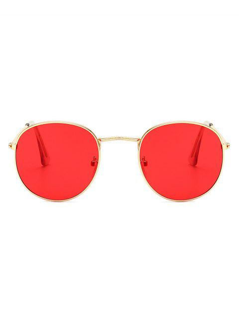 shops Vintage Round Anti UV Sunglasses - RED  Mobile