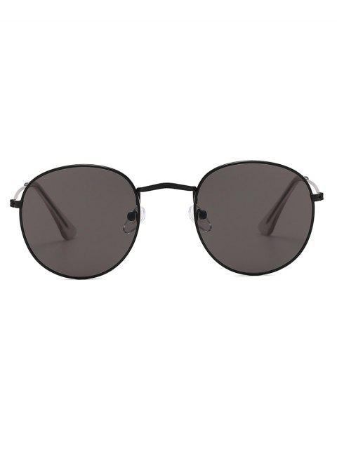 women's Vintage Round Anti UV Sunglasses - BLACK EEL  Mobile