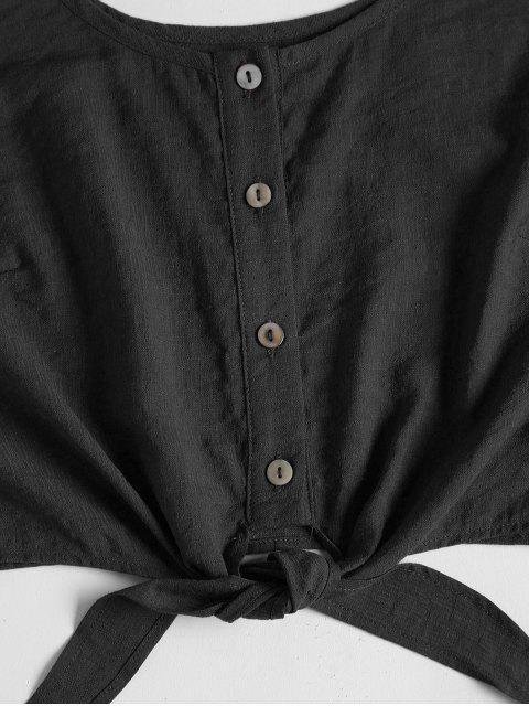 Set Top Corto Sin Mangas y Shorts - Negro M Mobile