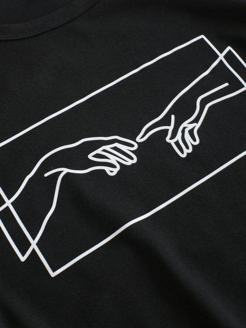 new Hand Graphic Jersey Tee - BLACK S Mobile