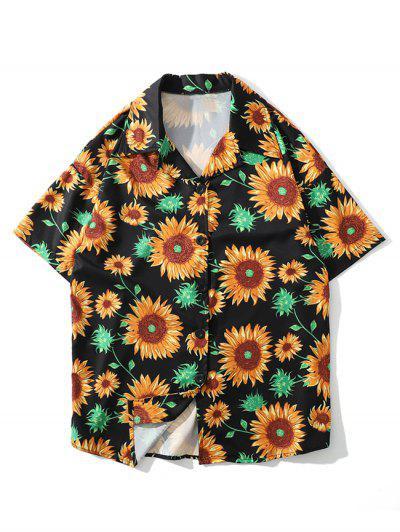 b06696af237efb Sunflower Print Beach Shirt - Multi-b - Multi-b 2xl