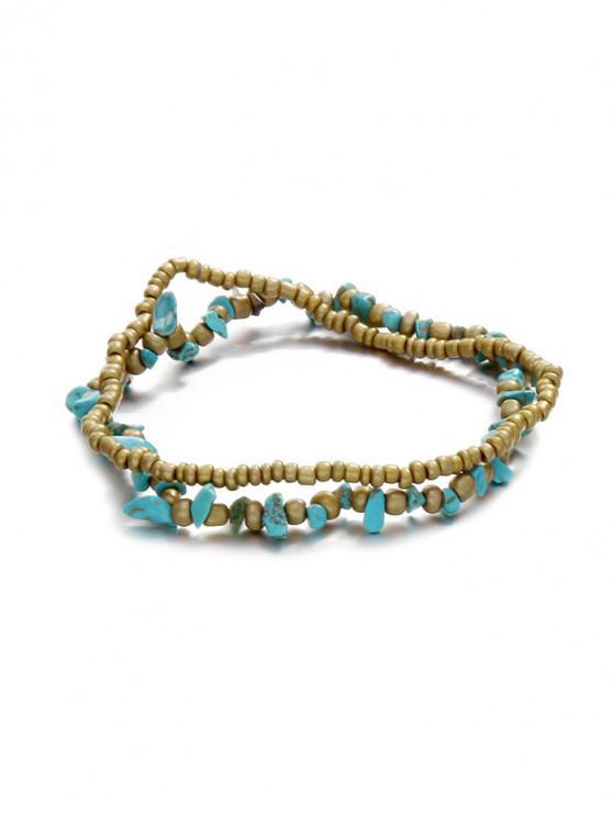 Pulsera de cadena de decoración de piedra cruzada - Oro