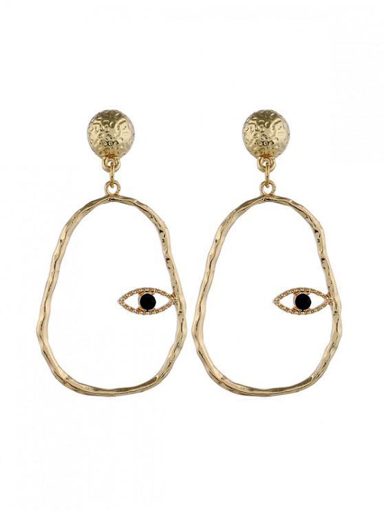 Aretes de ojo ahuecados simples - Oro