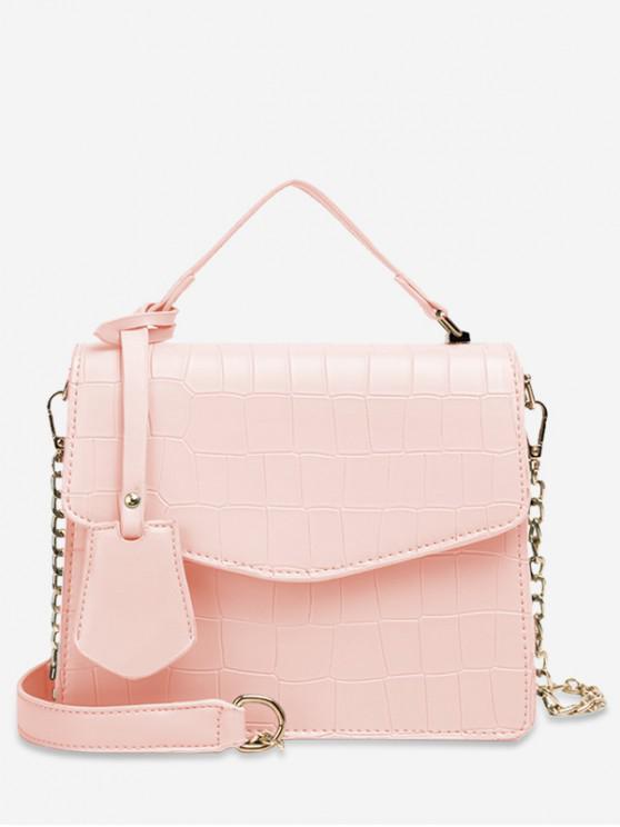 hot Animal Print Top Handle Crossbody Bag - PINK