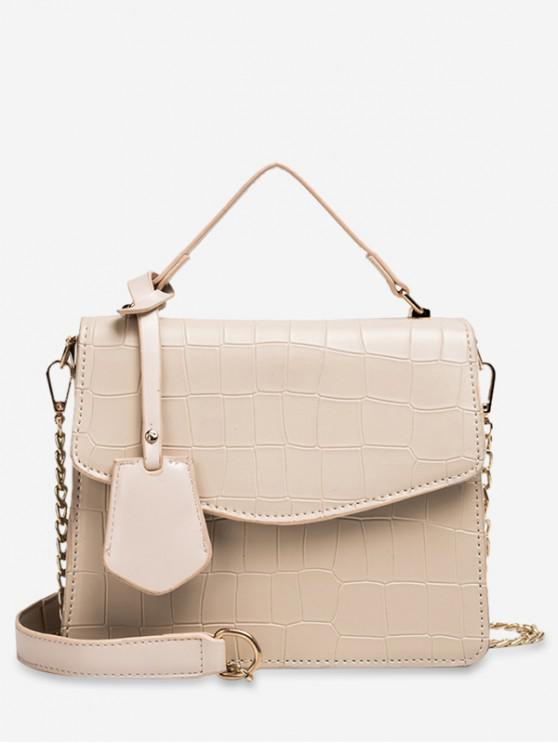 shop Animal Print Top Handle Crossbody Bag - BEIGE