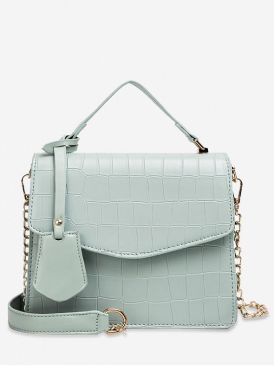 online Animal Print Top Handle Crossbody Bag - DARK SEA GREEN
