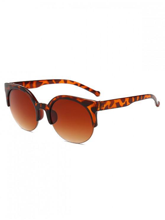 shops Round Outdoor Semi-rimless Sunglasses - LEOPARD