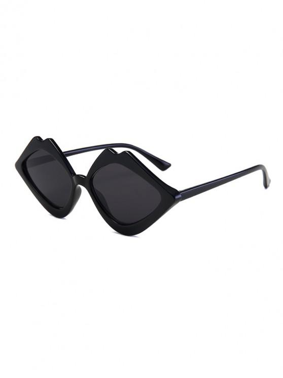 latest Rhombus Lip Shape Sunglasses - BLACK