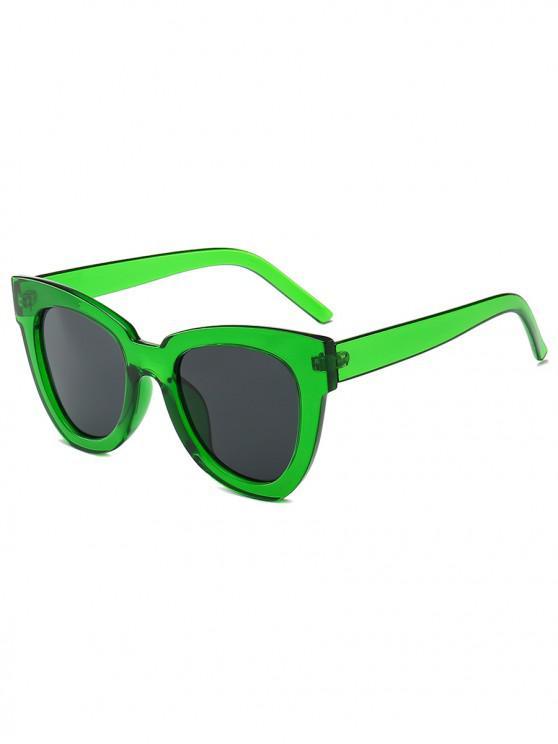 Gafas de sol irregulares de llanta ancha - Verde Alga