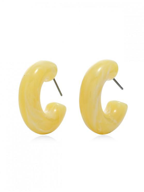 Aretes de acrílico - Amarillo