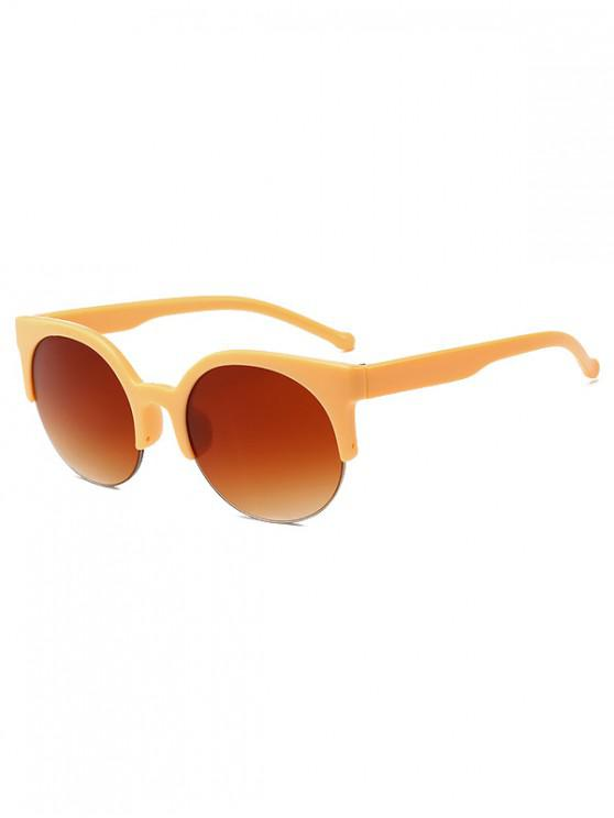 best Round Outdoor Semi-rimless Sunglasses - BEE YELLOW
