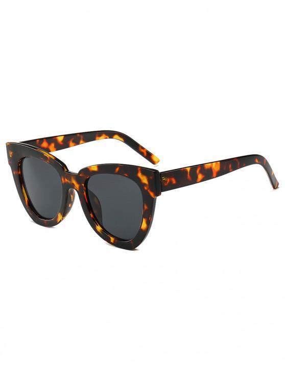 online Wide Rim Irregular Sunglasses - LEOPARD
