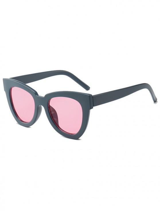 outfit Wide Rim Irregular Sunglasses - GRAY CLOUD