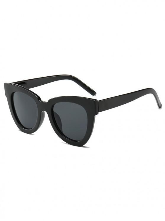 outfits Wide Rim Irregular Sunglasses - BLACK