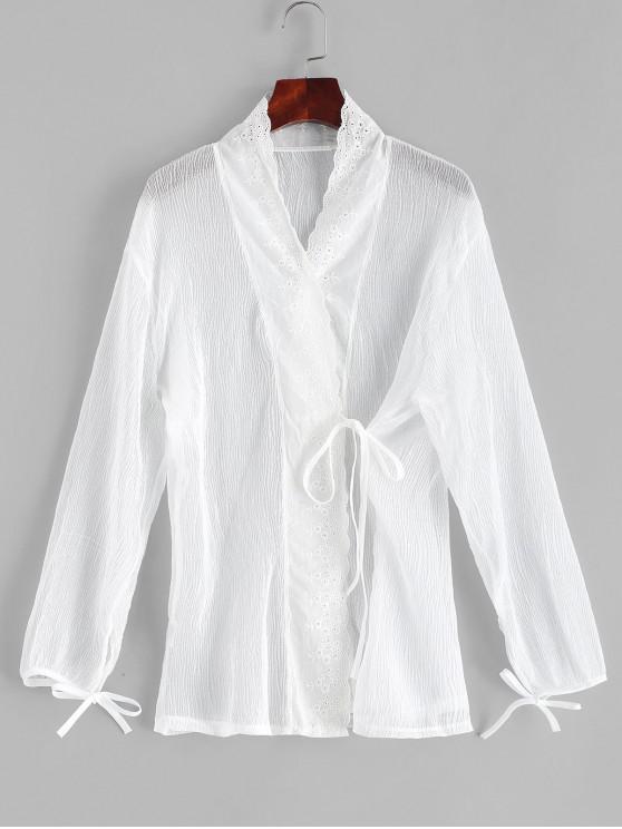 Ojal arrugado Ojales de corbata tapar - Blanco Talla única
