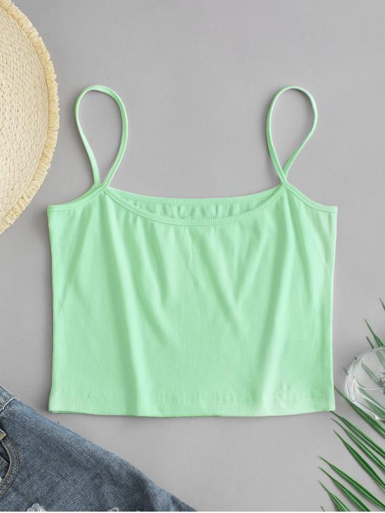 outfit ZAFUL Ribbed Cami Top - MINT GREEN XL